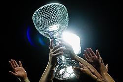 Slovenianm cup trophy in NK Olimpija players hands after  final match of Slovenian football cup for season 2020/2021 between teams NK Olimpija Ljubljana and NK Celje, 25th May, 2021, Stadion Bonfika, Koper, Slovenia. Photo by Grega Valancic / Sportida