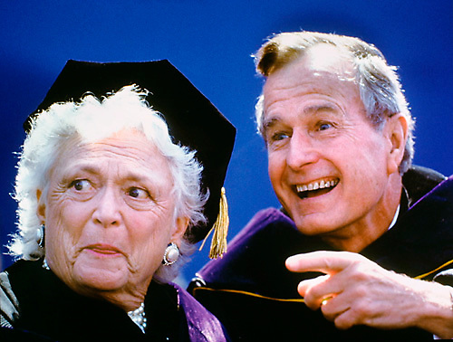 President George H. Bush and First Lady Barbara Bush