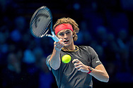 Alexander 'Sasha' Zverev of Germany in action  during the Nitto ATP World Tour Finals at the O2 Arena, London, United Kingdom on 16 November 2018. Photo by Martin Cole