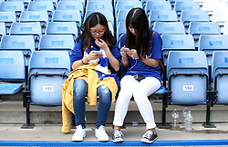 Chelsea fans in the stands during the match