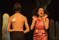 © Licensed to London News Pictures. 22/04/2015. London, England. Pictured: Cristiana Morganti.  Tanztheater Wuppertal Pina Bausch perform the UK Premiere of Ahnen at Sadler's Wells Theatre. Performances from 23 to 26 April 2015. Photo credit: Bettina Strenske/LNP - STRICTLY EDITORIAL USE ONLY