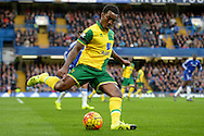 Andre Wisdom of Norwich City in action. Barclays Premier league match, Chelsea v Norwich city at Stamford Bridge in London on Saturday 21st November 2015.<br /> pic by John Patrick Fletcher, Andrew Orchard sports photography.
