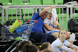 Alessandro Chiappini, head coach of Slovenia with dissapointed Eva Mori of Slovenia after the volleyball match between National team of Turkey and Slovenia in Gold Medal game of Womens U23 World Championship 2017, on September 17, 2017 in SRC Stozice, Ljubljana, Slovenia. Photo by Morgan Kristan / Sportida