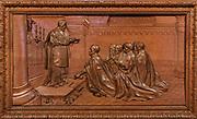 """Kaplica św. Ignacego Loyoli, rzeźba przedstawiająca pierwsze śluby św. Ignacego. Kościół Rektoralny Matki Bożej Nieustającej Pomocy na """"Górce"""". Zakopane"""