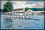 Henley. England, 1989 Henley Royal Regatta, River Thames, Henley Reach,  [© Peter Spurrier/Intersport Images], Stämpfli 12 person boat rowed by London Rowing Club, Row Past,