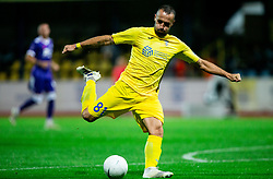 Predrag Sikimic of NK Domzale in action during football match between NK Domzale and NK Maribor in 2nd Round of Prva liga Telekom Slovenije 2020/21, on August 30, 2020 in Športni park Domzale, Slovenia. Photo by Vid Ponikvar / Sportida