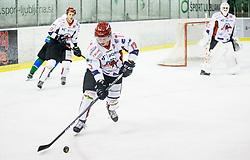 Logar Miha of HDD SIJ Acroni Jesenice during ice hockey match between  HK SZ Olimpija and HDD SIJ Acroni Jesenice in 23rd Round of AHL - Alps Hockey League 2017/18, on December 16, 2017 in Hala Tivoli, Ljubljana, Slovenia. Photo by Vid Ponikvar / Sportida