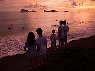 Idyllic sunset on a beach of San Antonio, Zambales, Luzon Island, Philippines, Southeast Asia, 2016