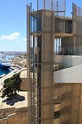 Upper Barrakka lift built 2012, from Upper Barrakka Gardens, Valletta, Malta