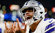 during an NFL football NFC wild card playoff game against the \ on Saturday, Jan. 5, 2019, in Arlington, Texas. The Cowboys defeated the Seahawks, 24-22. (Ryan Kang via AP)
