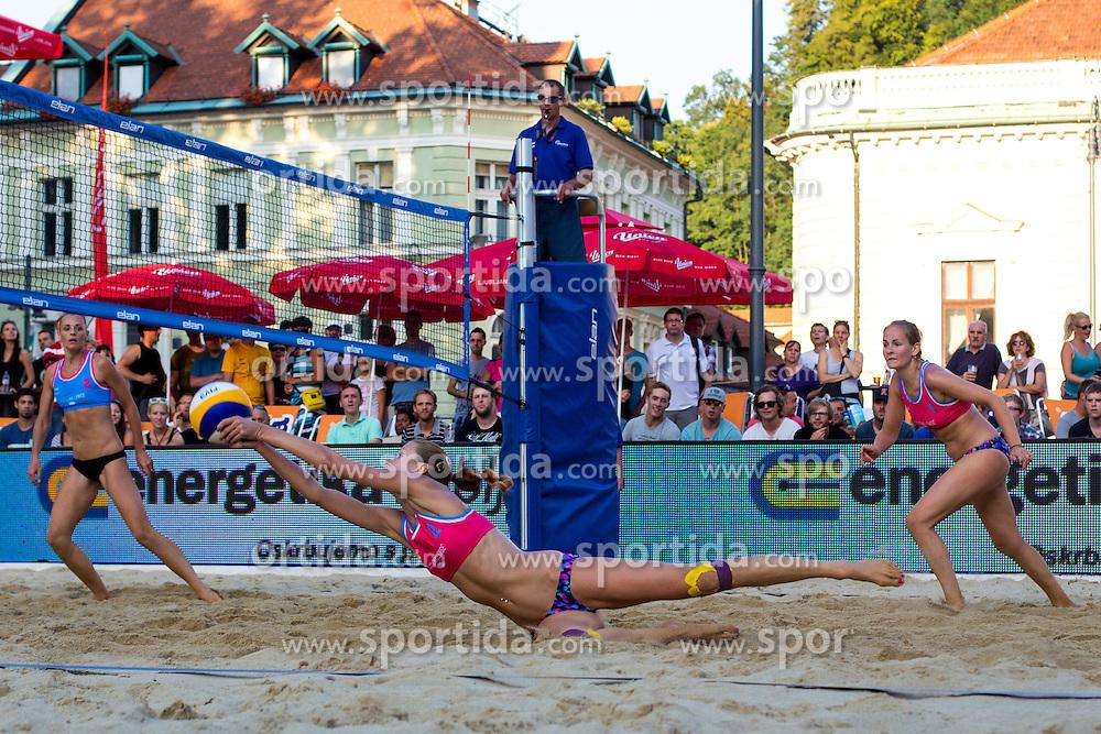 Tereza Jarosova of Czech Republic at Beach Volleyball Challenge Ljubljana 2014, on August 1, 2014 in Kongresni trg, Ljubljana, Slovenia. Photo by Matic Klansek Velej / Sportida.com