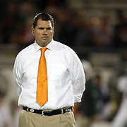 University of Miami Head Coach Al Golden is seen during the NCAA Football Russell Athletic Bowl football game between the Louisville Cardinals and the Miami Hurricanes, at the Florida Citrus Bowl on Saturday, December 28, 2013 in Orlando, Florida. (AP Photo/Alex Menendez)