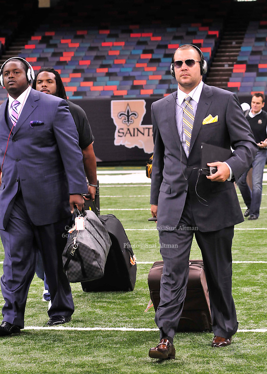 The New Orleans Saints play the Pittsburgh Steelers in New Orleans at the SuperDome in Louisiana on Halloween Oct.31 2010. Big Ben Roethlisberger of the Pittsburg Steelers arrives at  the SuperDome in New Orleans on Halloween night to play the New Orleans Saints.Photo©SuziAltman.
