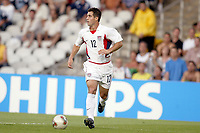 FOTBALL - CONFEDERATIONS CUP 2003 - GROUP B - BRASIL v USA - 030621 - CARLOS BOCANEGRA (USA) - PHOTO JEAN MARIE HERVIO /  DIGITALSPORT