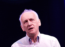 Terry Deary <br /> author of <br /> Dangrous Days in the Roman Empire <br /> (author of Horrible Histories)<br /> press launch <br /> at The Garrick Theatre, London, Great Britain <br /> 23rd October 2013 <br /> <br /> Horrible Histories Live on Stage ' Barmy Britain' is currently on at The Garrick Theatre, London, Great Britain <br /> <br /> Terry Deary also pictured with Anthony Spargo and Lauryn Redding who are the cast of the show. <br /> <br /> <br /> <br /> Photograph by Elliott Franks