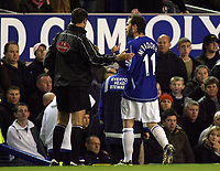 Photo: Paul Thomas.<br /> Everton v Arsenal. Carling Cup. 08/11/2006.<br /> <br /> James McFadden of Everton is sent off.