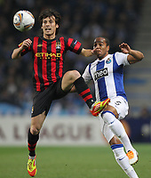 20120216: PORTO, PORTUGAL – UEFA Europa League 2011/2012 - 1/16 Final - 1st Leg: FC Porto vs Man. City.<br /> In photo: DAVID SILVA AND ALVARO PEREIRA.<br /> PHOTO: PEDRO PEREIRA/CITYFILES