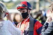 Ryan Elliot, winner of Race 10, Barfoot & Thompson 1600.<br /> Vodafone Derby Day at Ellerslie Race Course, Auckland on Sunday 7th March 2021 during lockdown level 2.<br /> Copyright photo: Alan Lee / www.photosport.nz