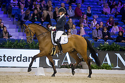 Lenaerts Joyce, NED, George<br /> Final Subli Young Dressage horses 5 years of age<br /> Jumping Amsterdam 2017<br /> © Hippo Foto - Leanjo de Koster<br /> 26/01/17