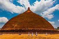 Rathna Prasadaya, Anuradhapura, Sri Lanka. Anuradhapura is one of the ancient capitals of Sri Lanka, famous for its well-preserved ruins of an ancient Sri Lankan civilization.