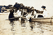 summer vacationing with rowing boat 1920s