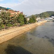 The river running through the middle of Sam Neua (also spelled Samneua, Xamneua and Xam Neua) in northeastern Laos.