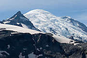 On the Wonderland Trail to Summerland in Mount Rainier National Park, Washington, USA. Mount Rainier rises to 14,411 feet elevation.