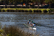 A female Eight Crew is seen training on the Yarra during the 35th day of zero COVID-19 cases in Victoria, Australia. School and community sport is ramping up and as the weather improves, more people are venturing out and about to enjoy this great city. Pressure is mounting on Premier Daniel Andrews to keep his promise of removing all remaining restrictions. (Photo by Dave Hewison/Speed Media)