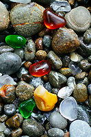 Glass beach near Fort Bragg California.