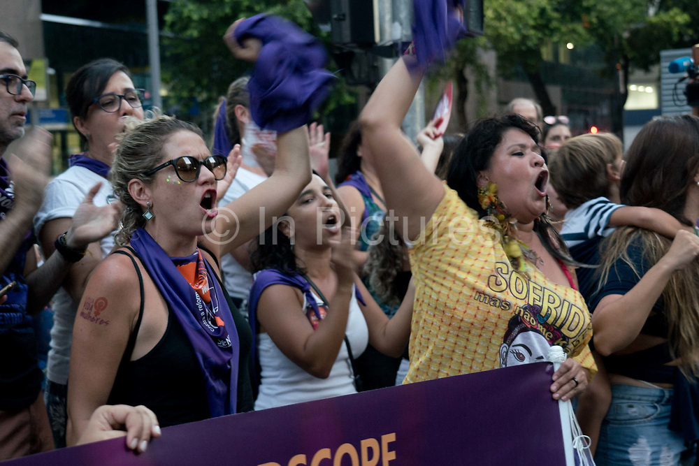 On March 8th 2019 - International Women's Day, tens of thousands of people gathered and marched through the streets of Rio de Janeiro, Brazil. Their demands are for better women's rights. In a macho society like Brazil, there is still a way to go. Brazil has the fifth highest rate of femicide globally, and abortion is still illegal. These are some of the issues that the feminism movement in Brazil is demanding.