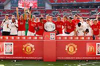 Photo: Richard Lane/Sportsbeat Images.<br />Manchester United v Chelsea. FA Community Shield. 05/08/2007. <br />Manchester United celebrate winning the Community Shield.