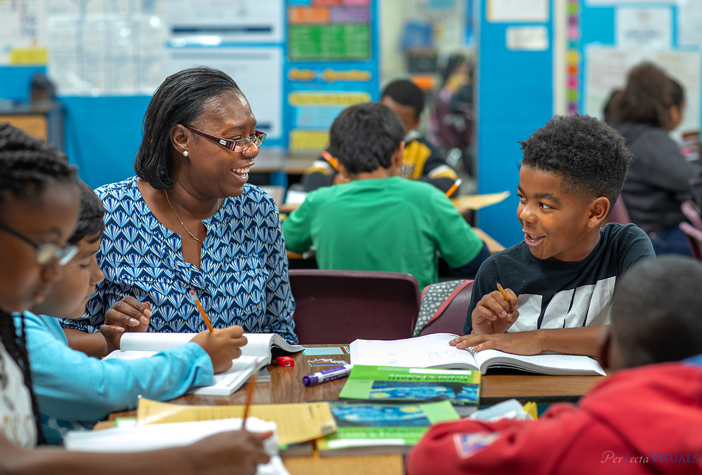 Students engage in math activities at Fairview Elementary School in High Point, N.C. on Tuesday, October 8, 2019. <br /> <br /> Photographed, Tuesday, October 8, 2019, in Greensboro, N.C. JERRY WOLFORD and SCOTT MUTHERSBAUGH / Perfecta Visuals