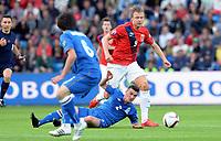 Fotball <br /> UEFA Euro 2016 Qualifying Competition<br /> 12.06.2015<br /> Norge v Aserbajdsjan / Norway v Aserbajdsjan 0:0<br /> Foto: Morten Olsen/Digitalsport<br /> <br /> Alexander Søderlund - NOR<br /> Qara Qarayev (2) - AZB