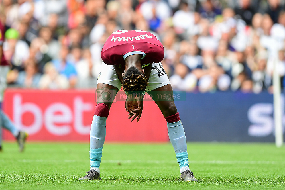 May 27, 2019 - London, England, United Kingdom - Tammy Abraham (18) of Aston Villa reacts after being ruled off-side during the Sky Bet Championship match between Aston Villa and Derby County at Wembley Stadium, London on Monday 27th May 2019. (Credit: Jon Hobley | MI News) (Credit Image: © Mi News/NurPhoto via ZUMA Press)