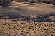 Landscape photography of a Semi-desert area sand dunes, Inner Mongolia, China
