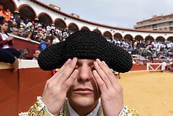 June 30, 2017 - Soria, Soria, Spain - Spanish bullfighter Carlos Jimenez pictured during a bullfight at the 'La Chata' bullring in Soria, north of Spain. (Credit Image: © Jorge Sanz/Pacific Press via ZUMA Wire)