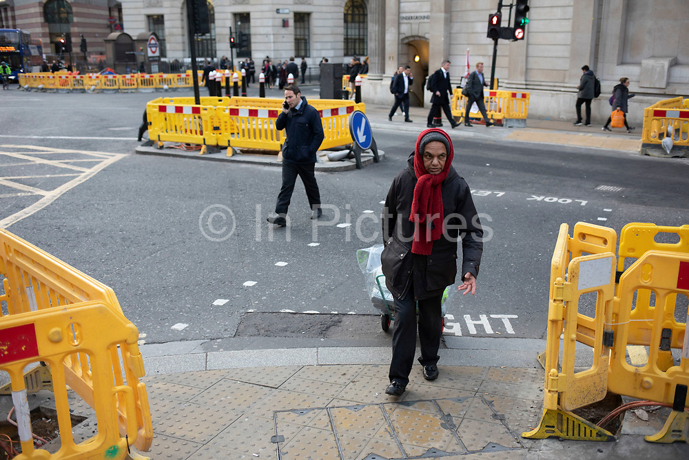 Road and pavement improvements at Bank in the City of London on 5th February 2020 in London, England, United Kingdom. The City of London is a city, county and a local government district that contains the historic centre and the primary central business district CBD of London.