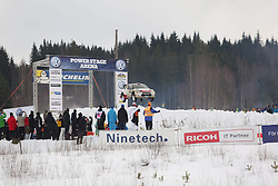 15.02.2015,  Karlstad, SWE, FIA, WRC, Schweden Rallye, im Bild Mads Ostberg/Jonas Andersson (Citroen Total Abu Dhabi WRT/DS3 WRC) // during the WRC Sweden Rallye at the Karlstad in Karlstad, Sweden on 2015/02/15. EXPA Pictures © 2015, PhotoCredit: EXPA/ Eibner-Pressefoto/ Bermel<br /> <br /> *****ATTENTION - OUT of GER*****