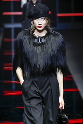 February 21, 2019 - Milan, Italy - Model on catwalk for Emporio Armani Ready To Wear For Fall Winter 2019 during Milan fashion week. (Credit Image: © FashionPPS via ZUMA Wire)