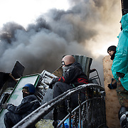 January 25, 2014 - Kiev, Ukraine: Anti-government protestors continue to demonstrate outside the Dynamo Kiev stadium near the Independence Square in central Kiev. (Paulo Nunes dos Santos)