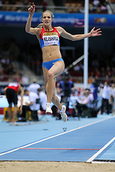 08.03.2014, Ergo Arena, Sopot, POL, IAAF, Leichtathletik Indoor WM, Sopot 2014, im Bild skok w dal, long jump, Darya Klishina (RUS) // skok w dal, long jump, Darya Klishina (RUS)  during day two of IAAF World Indoor Championships Sopot 2014 at the Ergo Arena in Sopot, Poland on 2014/03/08. EXPA Pictures © 2014, PhotoCredit: EXPA/ Newspix/ Tomasz Jastrzebowski<br /> <br /> *****ATTENTION - for AUT, SLO, CRO, SRB, BIH, MAZ, TUR, SUI, SWE only*****