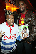 l to r: Lucky and Troy Hutchinson at The Jamie Foxx's Album Release Party for Intuition, Sponsored by Vibe Magazine & Patron Tequila held at Home on December 17, 2008 in New York City..