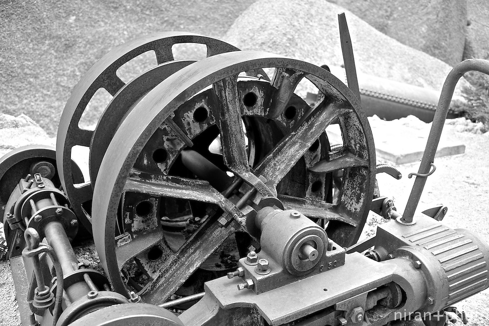 Remnant equipment that can only be assumed to be a steam powered pulley of sorts located at the Shaft House.
