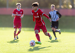 KIRKBY, ENGLAND - Saturday, October 31, 2020: Liverpool's substitute Oakley Cannonier during the Under-18 Premier League match between Liverpool FC Under-18's and Newcastle United FC Under-18's at the Liverpool Academy. Liverpool won 4-1. (Pic by David Rawcliffe/Propaganda)
