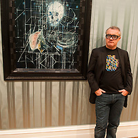 London October 13  Damian Hirst in front of Skull with ashtray while he attends the launch of 'No Lost Love' at The  Wallace Colection in London opening October 14th...***Agreed Fee's Apply To All Image Use***.Marco Secchi /Xianpix. tel +44 (0) 771 7298571. e-mail ms@msecchi.com .www.marcosecchi.com