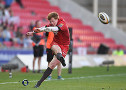 Scarlets Rhys Patchell<br /> <br /> Photographer Mike Jones/Replay Images<br /> <br /> Guinness PRO14 Round 22 - Scarlets v Cheetahs - Saturday 5th May 2018 - Parc Y Scarlets - Llanelli<br /> <br /> World Copyright © Replay Images . All rights reserved. info@replayimages.co.uk - http://replayimages.co.uk
