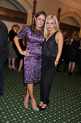 Left to right, NATALIE PINKHAM and KATHERINE JENKINS at a reception for The Mirela Fund in partnership with Hope and Homes for Children hosted by Natalie Pinkham in The Churchill Room, House of Commons, London on 30th April 2013.