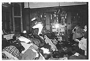 jason Kingsley retrieving coat, Valentino Ball, Oxford Union. Feb 1984
