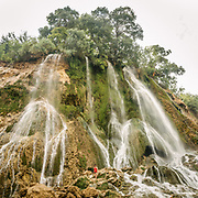 The Bisheh Waterfall is a waterfall in the village of Istgah-e Bisheh, Papi District in Khorramabad County, Iran. The waterfall is located 65 km (40 mi) from Khorramabad and near Bisheh railway station. With the nearby oak forest, it is a popular tourist attraction because of its scenic location and nearby train station.<br /> <br /> Travelling over 4000km by train across Iran. An opportunity to enjoy Persian hospitality, discover Iran's ancient cities and its varied landscapes, from deserts to mountains.