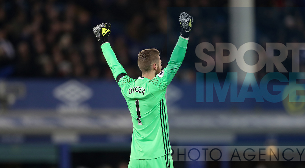 David De Gea of Manchester United during the Premier League match at Goodison Park, Liverpool. Picture date: December 4th, 2016.Photo credit should read: Lynne Cameron/Sportimage
